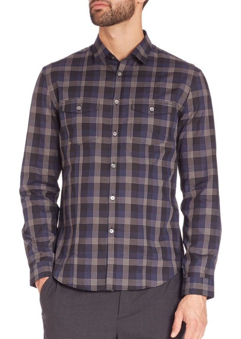 John Varvatos Slim-Fit Check Sportshirt