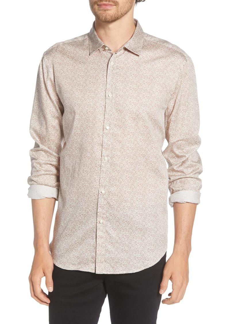 John Varvatos Slim Fit Floral Button-Up Shirt