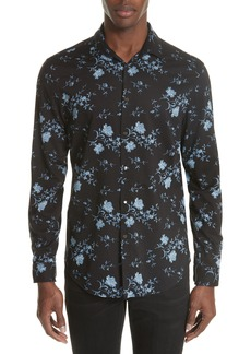 John Varvatos Collection Slim Fit Floral Print Sport Shirt