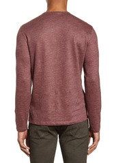 John Varvatos Slim Fit Linen Blend Henley