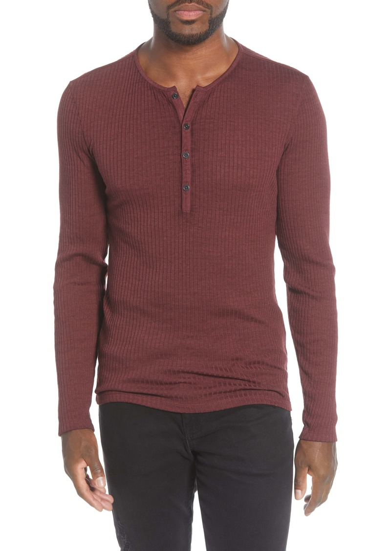 John Varvatos Slim Fit Long Sleeve Henley