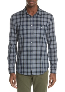 John Varvatos Collection Slim Fit Plaid Sport Shirt