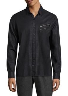 John Varvatos Textured Slim-Fit Shirt
