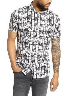John Varvatos Star USA Bamboo Print Sport Shirt
