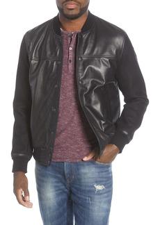 John Varvatos Star USA Billy Leather Varsity Jacket