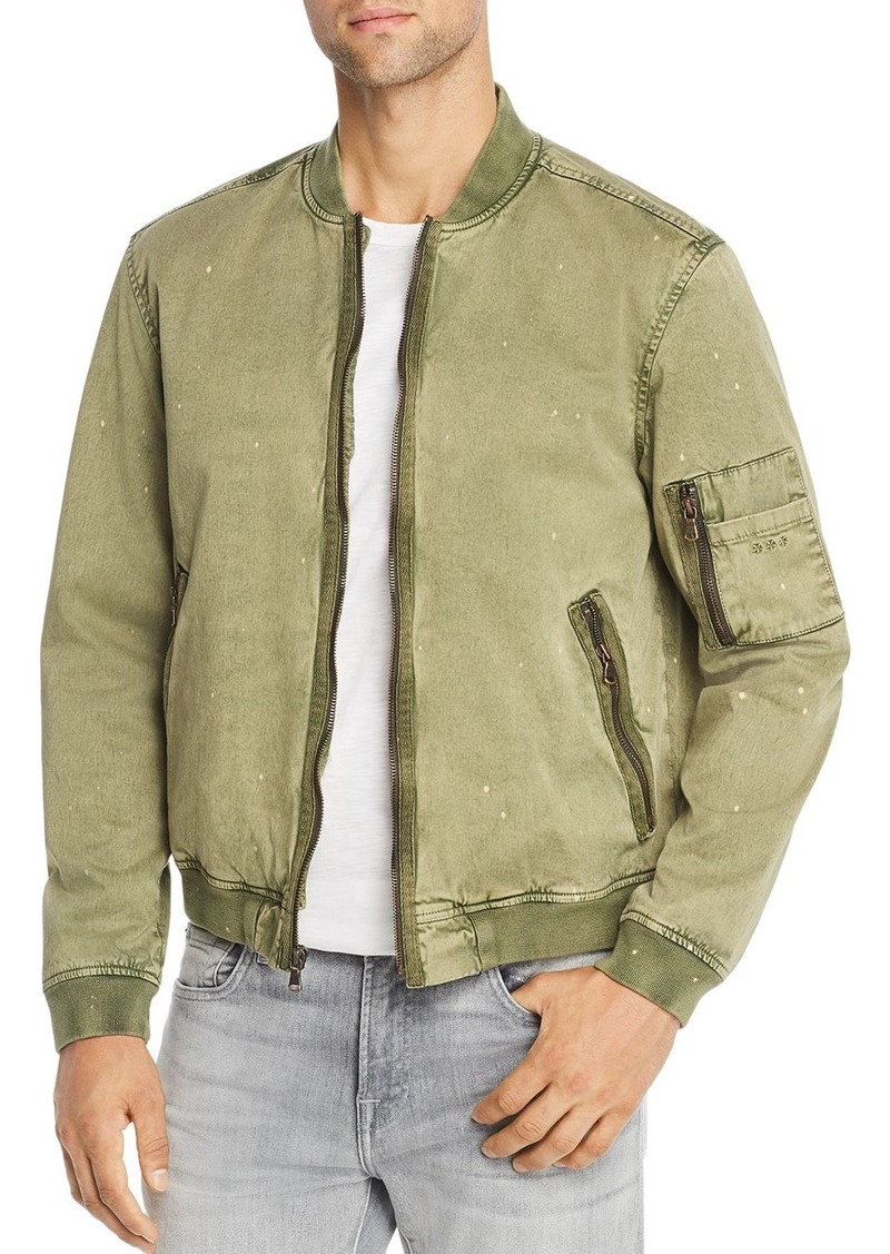 John Varvatos Star USA Bleach-Splattered Bomber Jacket