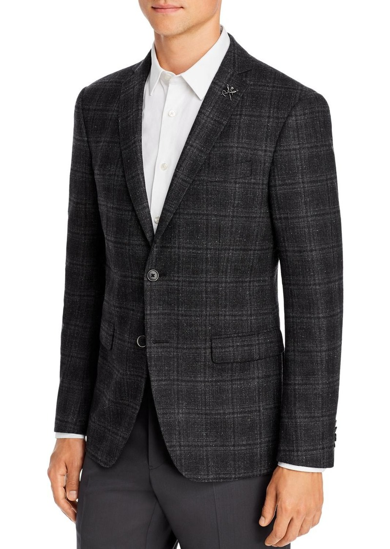 John Varvatos Star USA M�lange Plaid Slim Fit Sport Coat