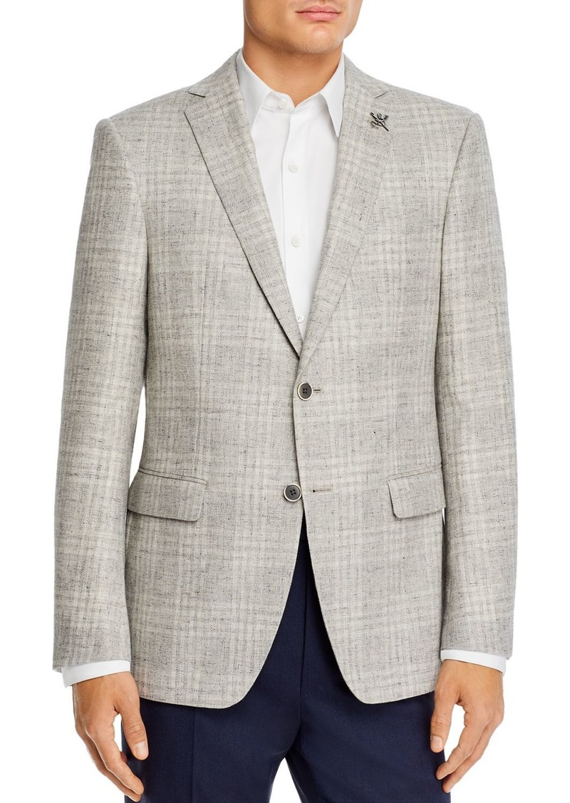 John Varvatos Star USA Bleeker Textured Tonal Plaid Slim Fit Sport Coat