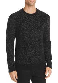 John Varvatos Star USA Boulder Leopard-Print Mohair Sweater