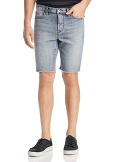 John Varvatos Star USA Bowery Cut-Off Denim Shorts in Dark Navy