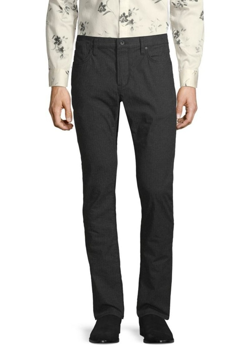 John Varvatos Star U.S.A. Bowery Slim-Fit Straight-Leg Pinstripe Pants