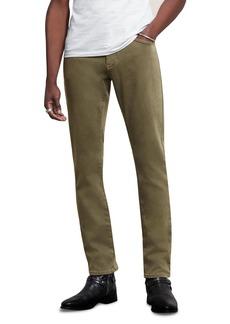 John Varvatos Star USA Bowery Slim Straight Jeans in Sandstone