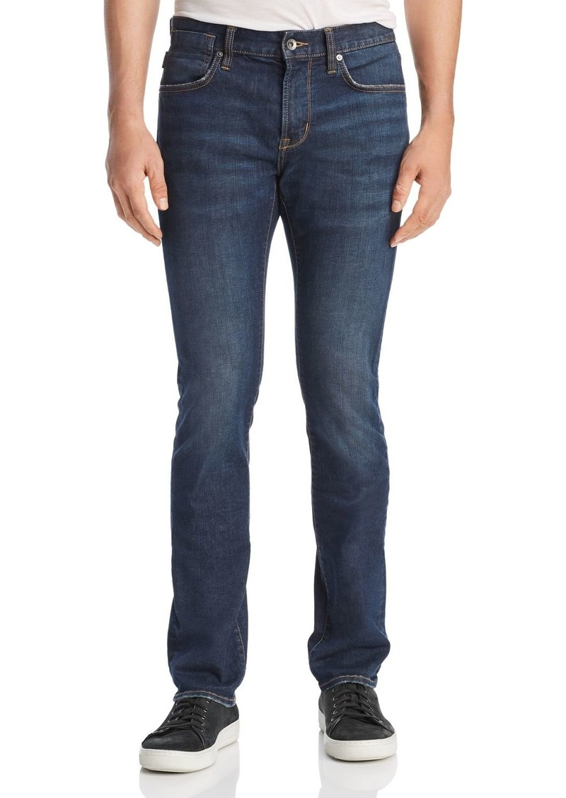 John Varvatos Star USA Bowery Straight Slim Fit Jeans in Storm Blue