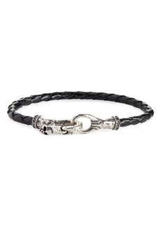 John Varvatos Braided Leather Bracelet