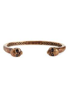 John Varvatos Brass Skull Cuff Bracelet