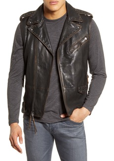 John Varvatos Star USA Bruce Leather Biker Vest