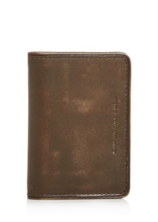 John Varvatos Star USA Brush Leather Bi-Fold Card Case
