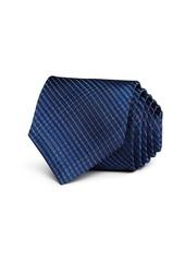 John Varvatos Star USA Brushed Tonal Check Classic Silk Tie