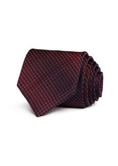 John Varvatos Star USA Brushed Tonal Check Classic Silk Tie