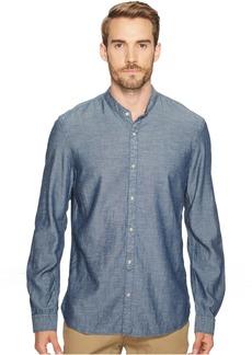 John Varvatos Button Down Banded Collar Shirt