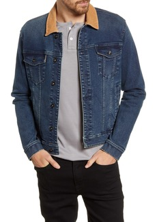 John Varvatos Star USA Buzz Washed Indigo Denim Trucker Jacket
