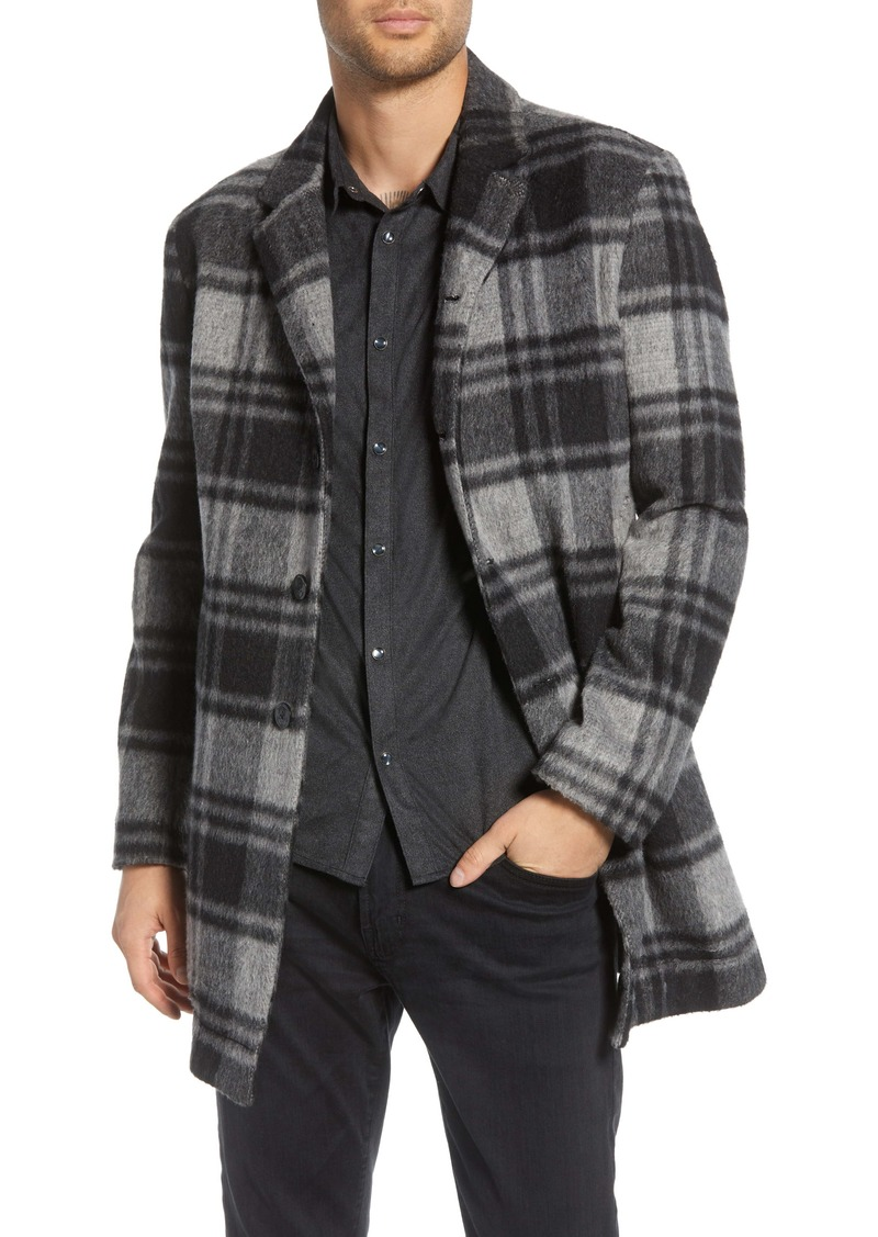 John Varvatos Star USA Carsen Plaid Car Coat