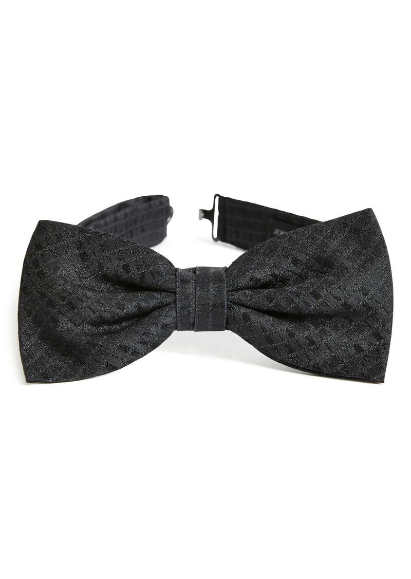 John Varvatos Star USA Check Silk Bow Tie