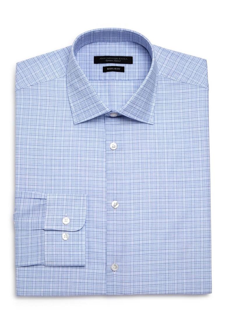 John Varvatos Star USA Checked Graph Regular Fit Dress Shirt