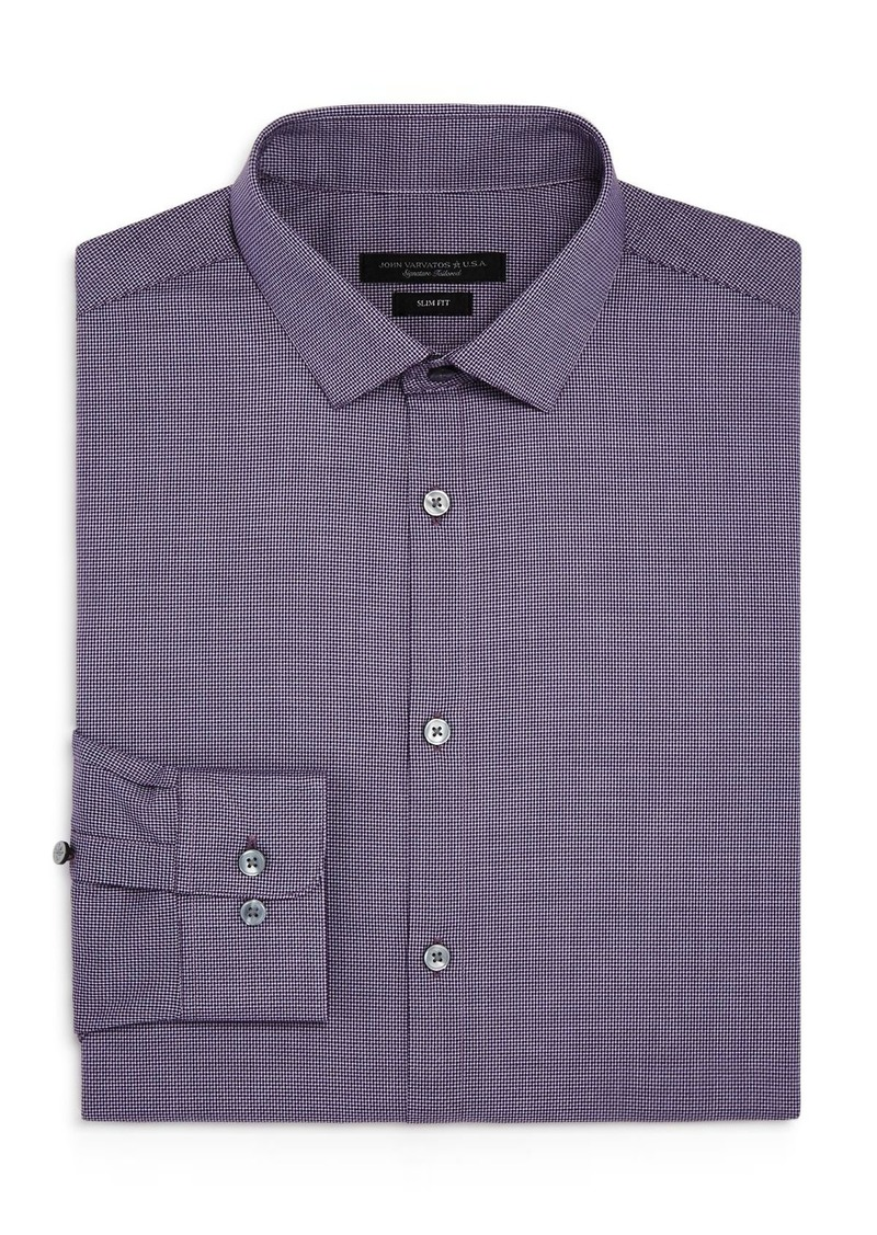 John Varvatos Star USA Checked Slim Fit Dress Shirt
