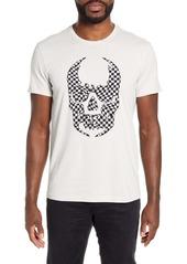 John Varvatos Star USA Checker Skull Appliqué T-Shirt