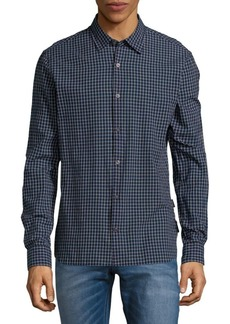 John Varvatos Star U.S.A. Checkered Cotton Button-Down Shirt