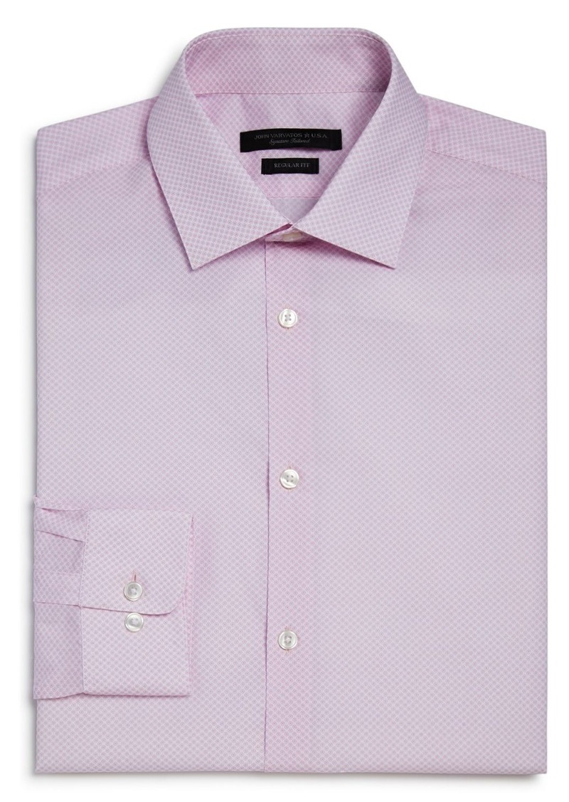 John Varvatos Star USA Circle Print Regular Fit Dress Shirt