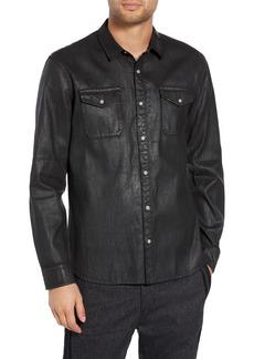 John Varvatos Star USA Coated Denim Shirt