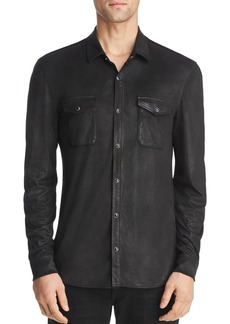 John Varvatos Star USA Coated Slim Fit Western Shirt