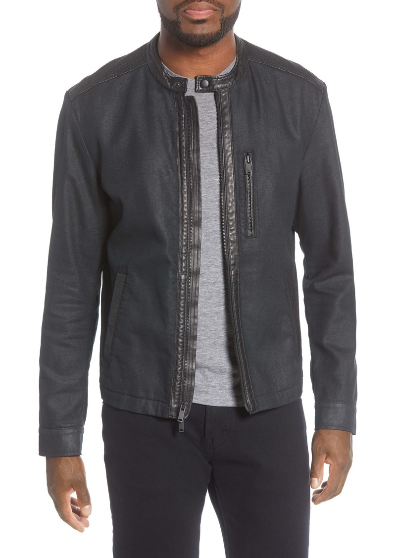 John Varvatos Star USA Cory Coated Canvas Jacket