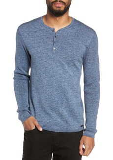 John Varvatos Star USA Cotton & Wool Henley Sweater