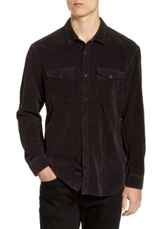 John Varvatos Star USA Dale Regular Fit Corduroy Western Button-Up Shirt