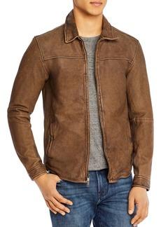 John Varvatos Star USA Danny Distressed Leather Slim Fit Jacket