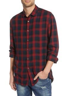 John Varvatos Star USA Dedrick Regular Fit Plaid Button-Up Sport Shirt