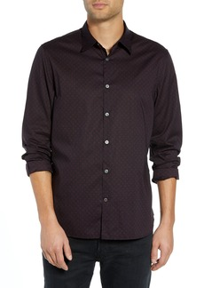 John Varvatos Star USA Diamond Print Sport Shirt