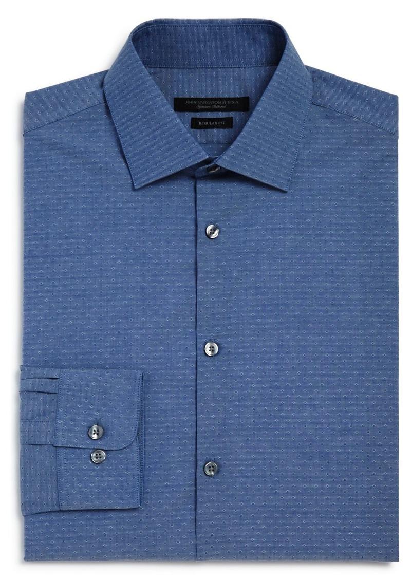 John Varvatos Star USA Dobby Solid Regular Fit Dress Shirt