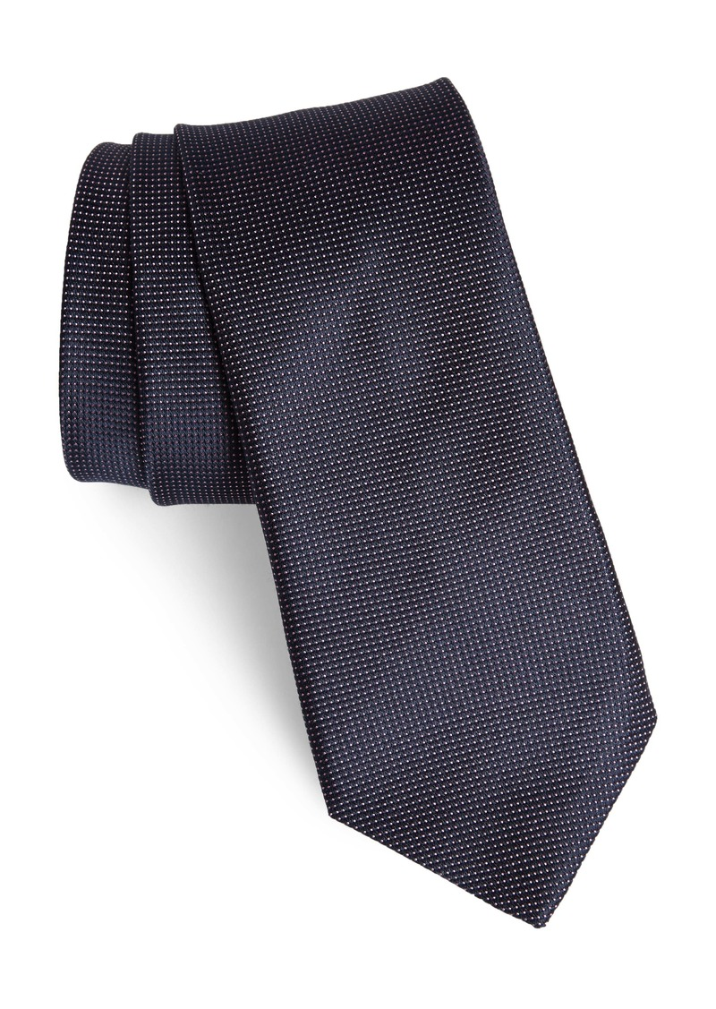 John Varvatos Star USA Dot Linen & Cotton Tie