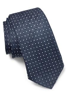John Varvatos Star USA Dot Linen & Silk Tie