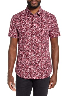 John Varvatos Star USA Doug Slim Fit Short Sleeve Button-Up Shirt