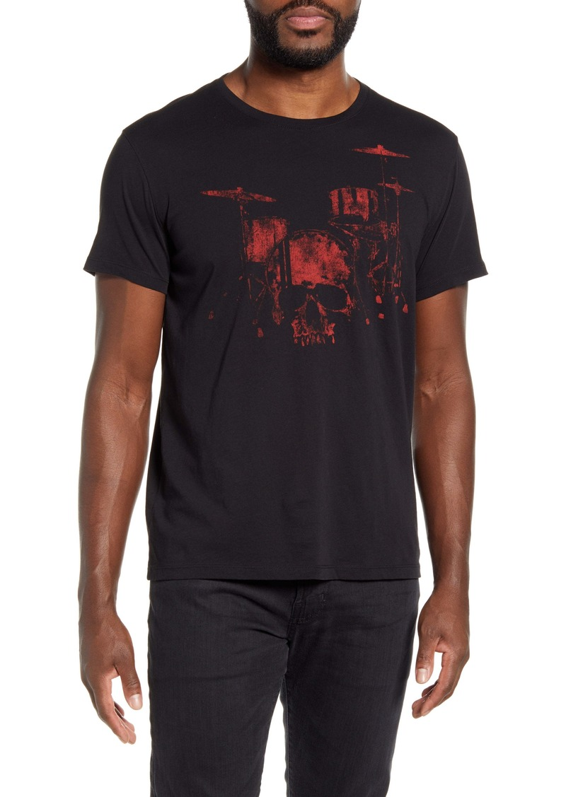 John Varvatos Star USA Drum Skull Graphic Tee