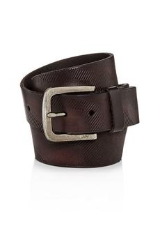 John Varvatos Star USA Embossed Camo-Print Leather Belt