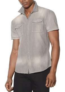 John Varvatos Star USA Faded Short-Sleeve Button-Down Shirt