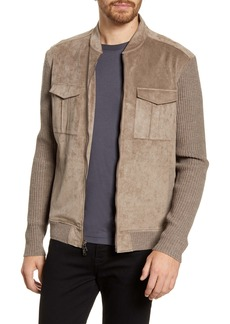 John Varvatos Star USA Faux Suede Bomber Jacket