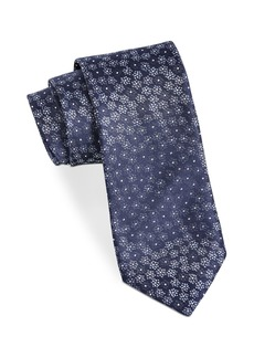 John Varvatos Star USA Filmore Scattered Dotted-Flower Silk Classic Tie