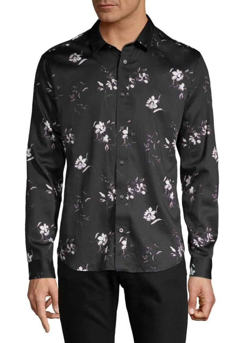 John Varvatos Star U.S.A. Floral-Print Shirt